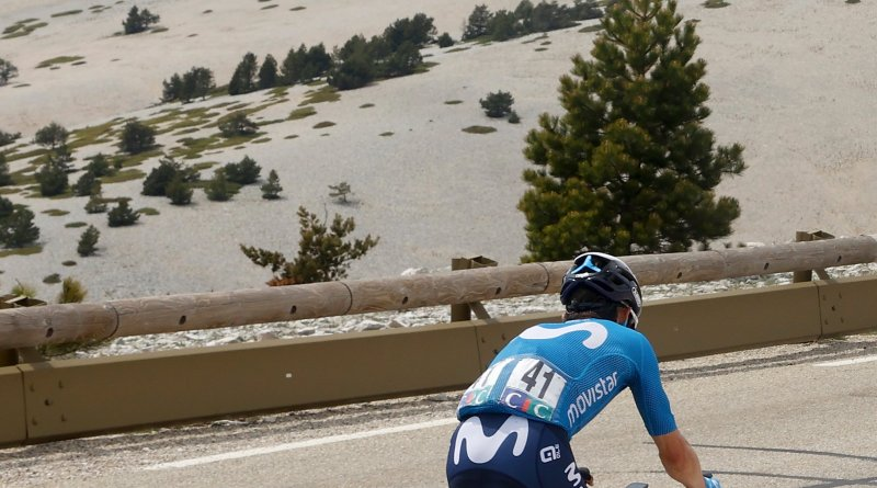 Miguel Ángel López rides his way to victory on the slopes of Mont Ventoux