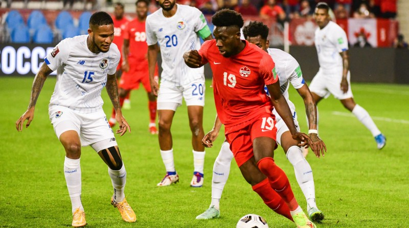CONCACAF World Cup qualifying Matchday 6: Canada's Alphonso Davies takes on the Panamanian defense