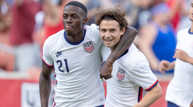 Tim Weah and Brenden Aaronson, pictured together, will be key members of the USMNT squad in October