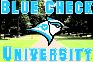 Blue Check University Graphic #2