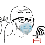 Report Button Soyjak Mask