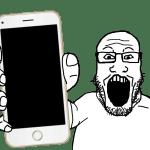 Soyjak Showing Phone