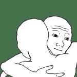 Wojaks Hugging