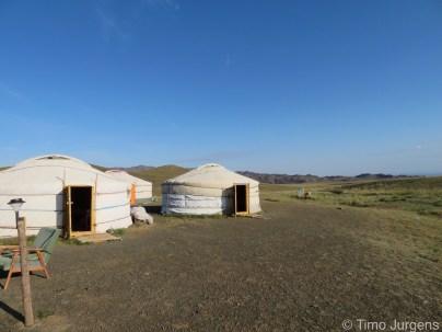 Gers Mongolia Gobi landscape