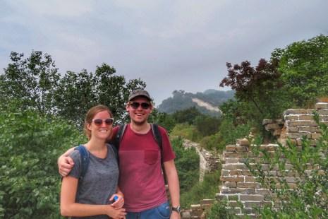 Great wild Wall of China Mutianyu