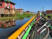 Floating village at Inle Lake Myanmar
