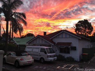 Perth - Sunset with camper van