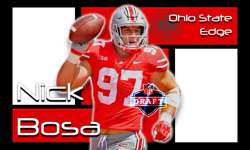big sale cdbd7 2892a Nick Bosa 2019 NFL Draft Profile – CPGM Top 50 - CPGM