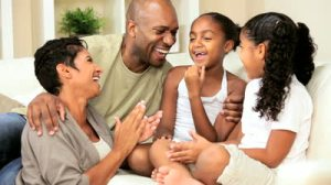 stock-footage-attractive-young-african-american-family-talking-together