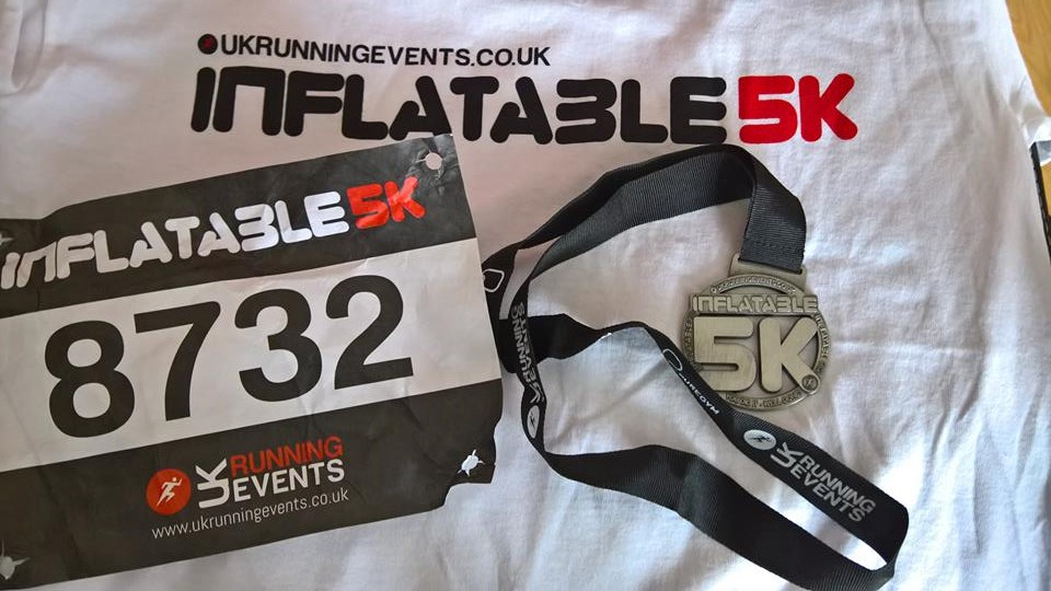 Inflatable 5k Medal, T-shirt and Race Number