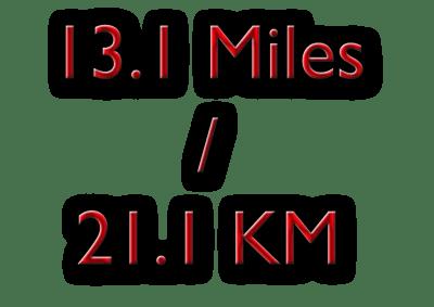 13.1 miles / 21/1 kilometres