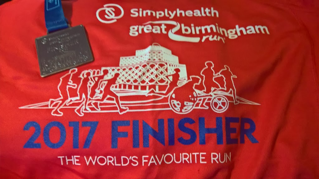 Finisher's T-shirt and Medal