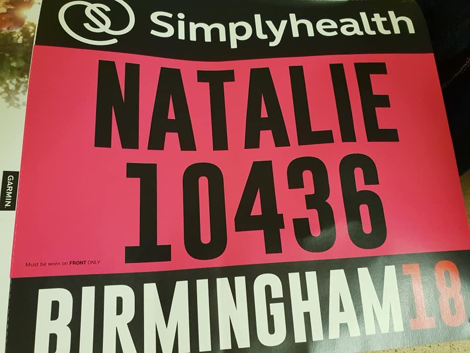 Birmingham Half Marathon Race Number