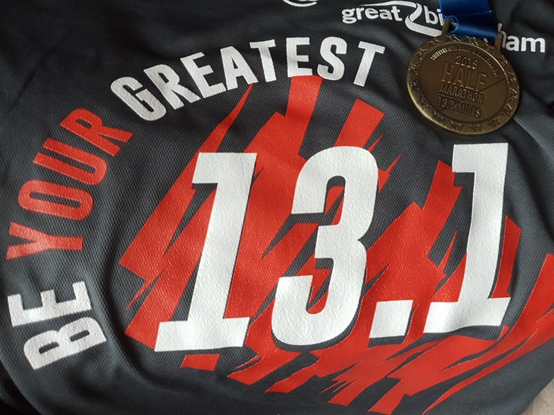 Simplyhealth Birmingham Half Marathon 2018 T-shirt and Medal