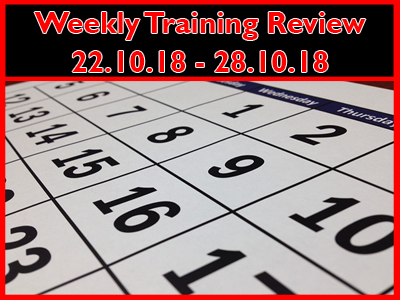 Weekly Training Review 22-28th October 2018