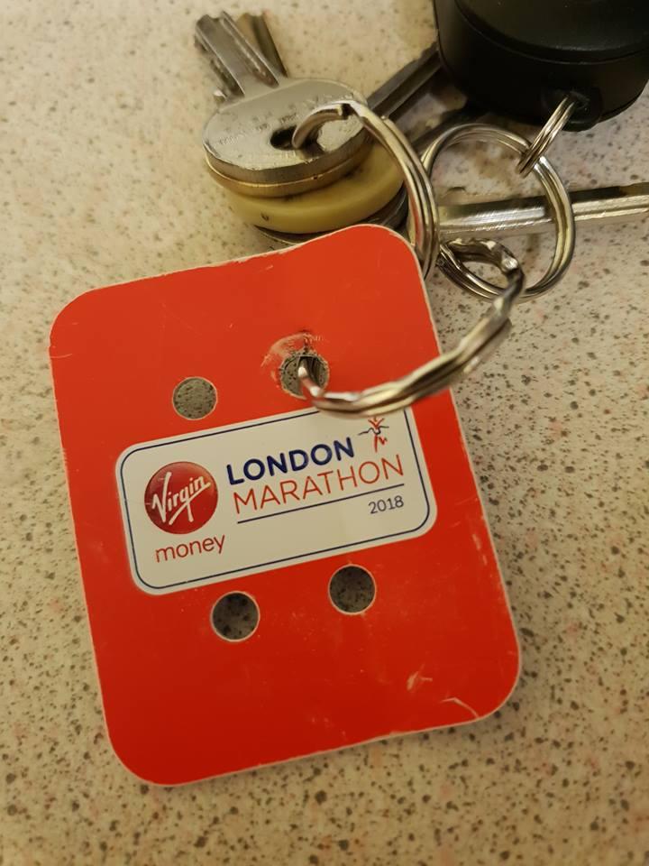 London Marathon Memento Keyring