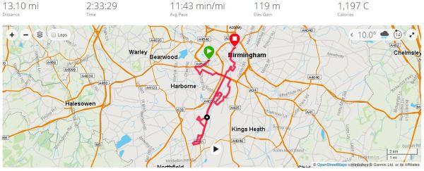 Half Marathon PB