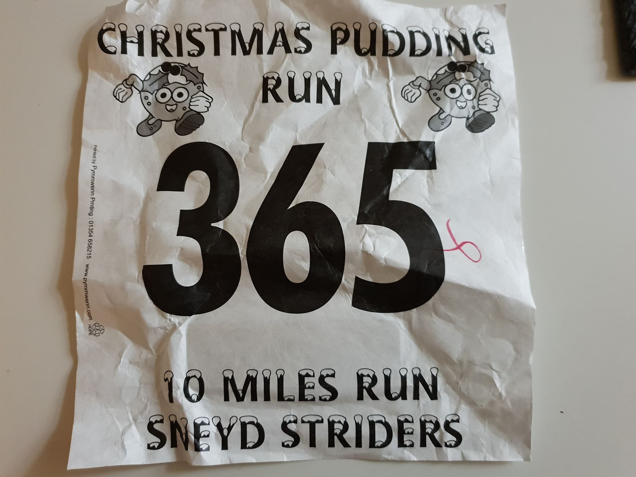 Sneyd 10 Mile 2019 Race Number