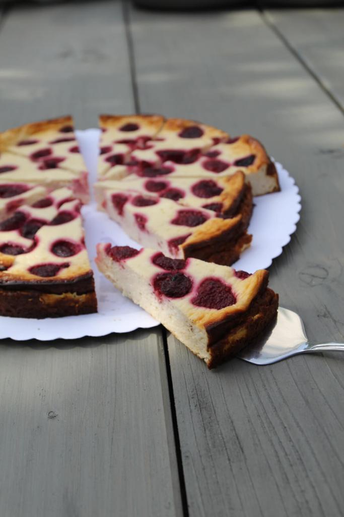 healthy-protein-cheesecake-recipe-gesundes-protein-käsekuchen-rezept-Himbeeren