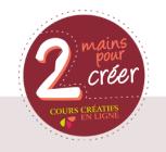 logo, 2 mains pour créer; pour CoudreetBloguer.org