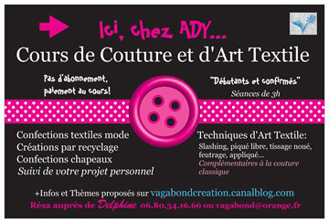 cours de couture Delphine chez ADY Toulouse