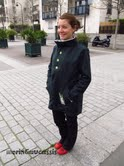 Manteau d'Anaïs passionnée de couture