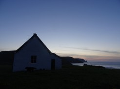 Candle lit in the bothy window.