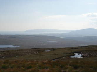 Views east to Durness, Loch Eriboll and Beinn Ceannabeinne from Maovally.