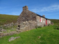 Leaving Strathan bothy