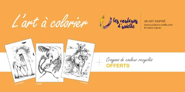 Carte d'art à colorier