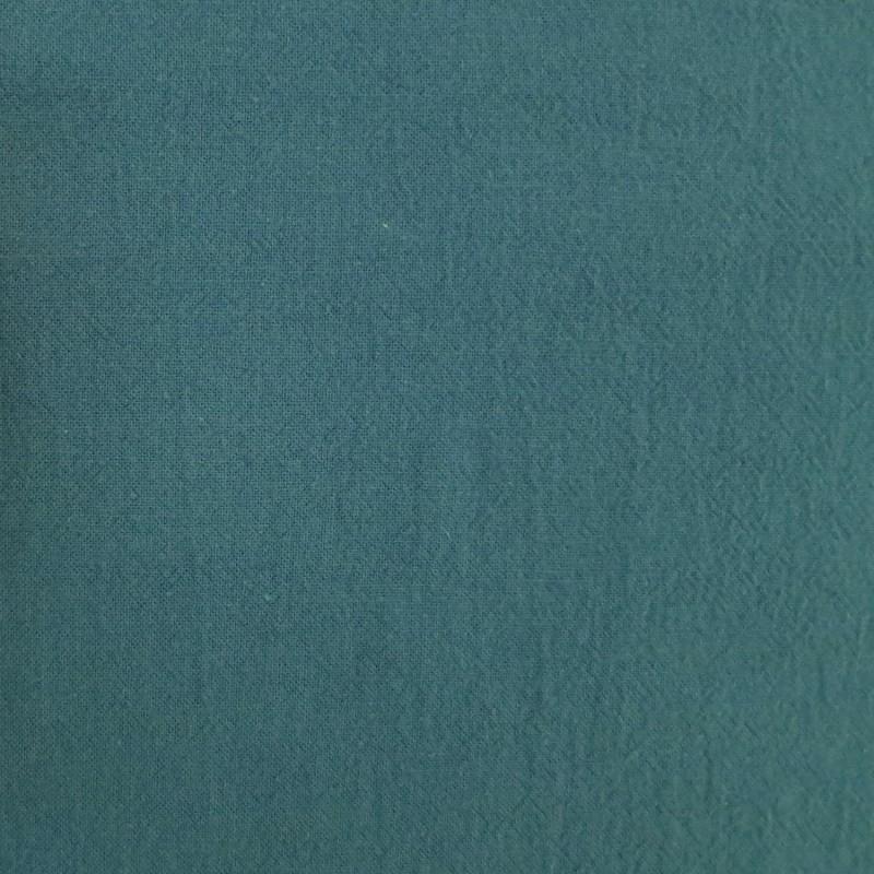 toile coton bleu canard fonce pour sashiko souple