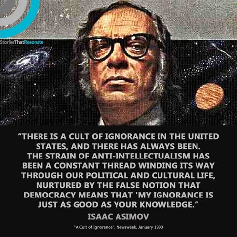Asimov on proud ignorance