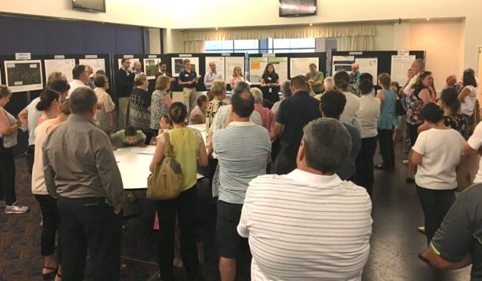 A community meeting at Pitt Town about the NBN rollout