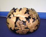 Gourd carving by Marcia Yrineo