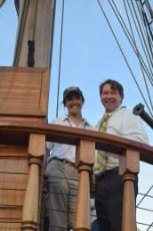 Captain Sharon Dounce and Sam Heed