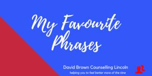 My Favourite Phrases