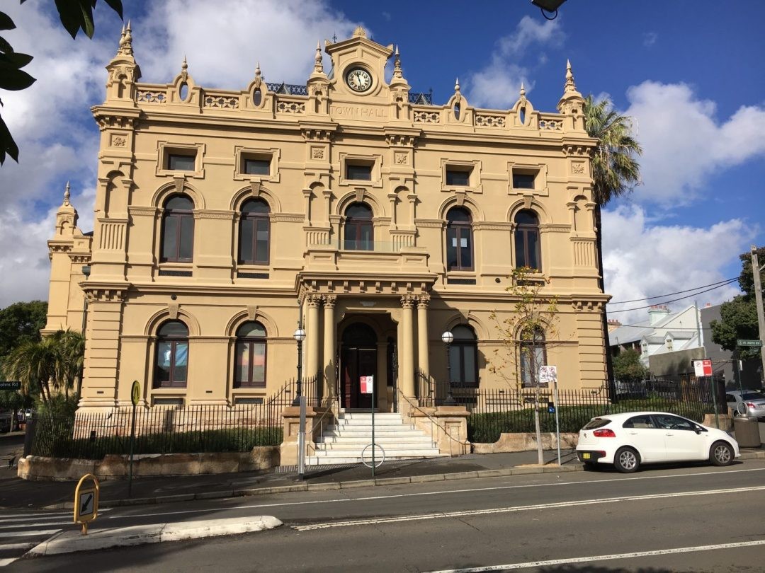 Located opposite Glebe Town Hall