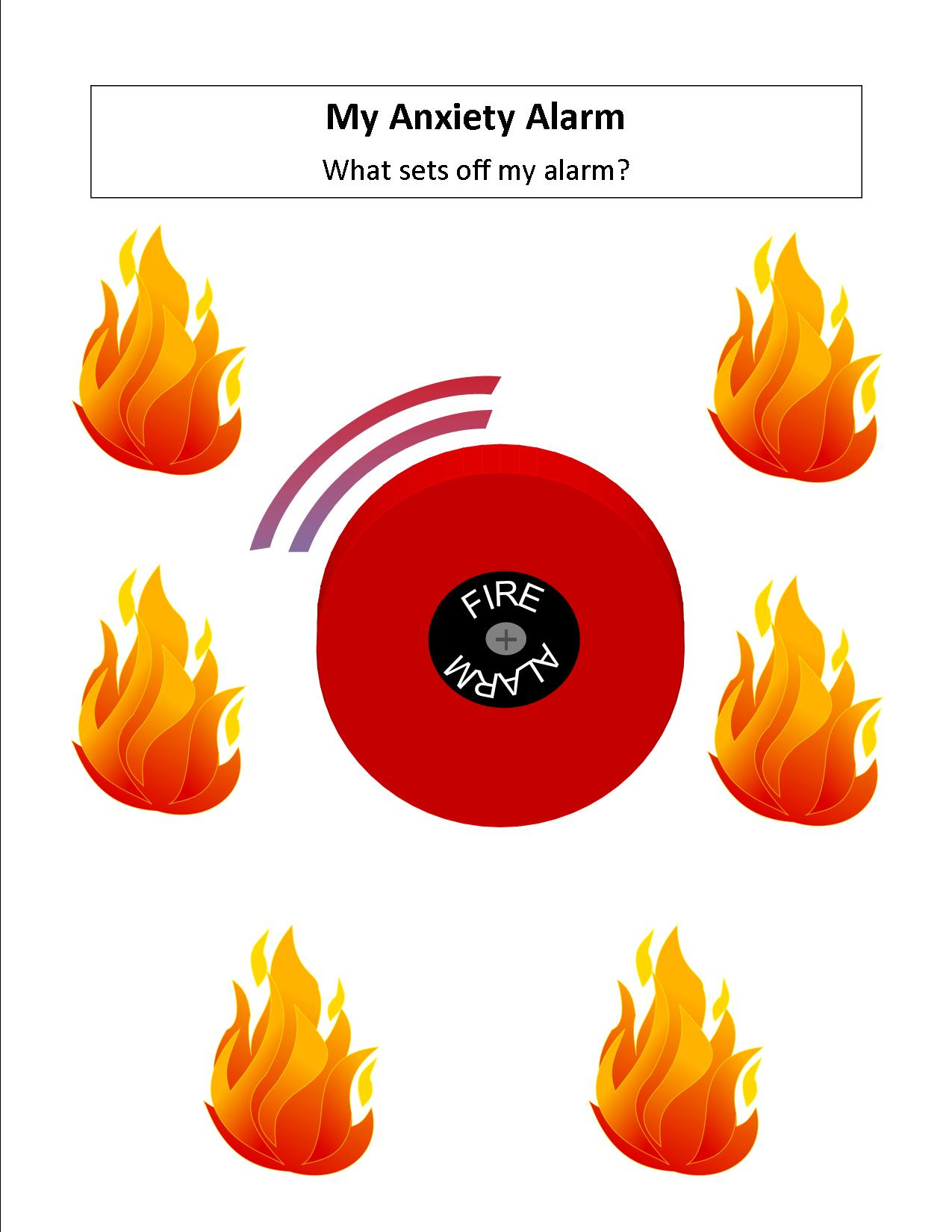 My Anxiety Alarm Worksheet For Kids
