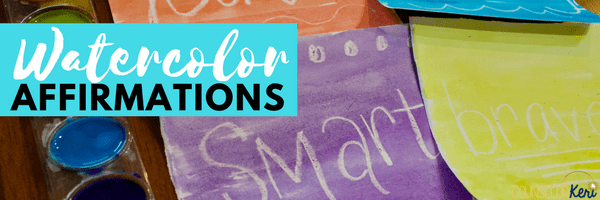 watercolor affirmations art activity for school counseling classroom guidance lessons or small group counseling