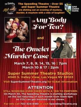 Speeding Theatre play poster