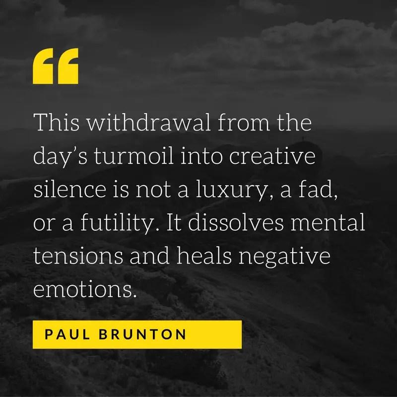 paul brunton meditation quotes