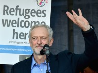 <> on September 12, 2015 in London, England. The demonstrators are calling on David Cameron to accept more refugees already in Europe. Earlier in the week he announced the UK would take 20000 Syrians from refugee camps over four years.
