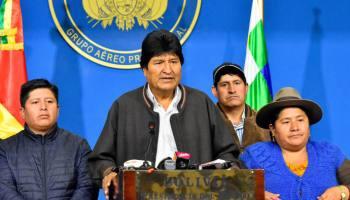 Nous reviendrons, dit Evo Morales, de Bolivie, après le coup d'Etat qui le force à démissionner