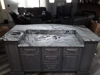 Viscon White Granite Vein Match