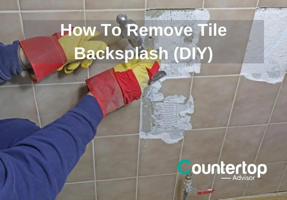 remove tile backsplash diy video