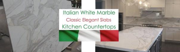 Italian white marble slabs for countertops