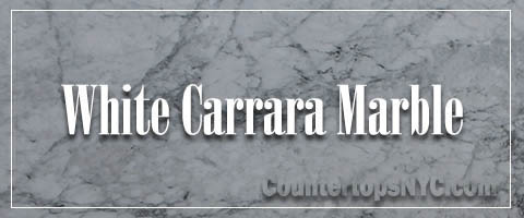 White carrara marble kitchen slab