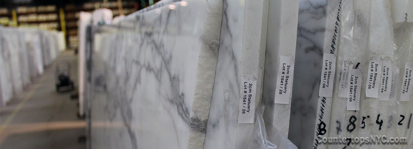 White Marble Kitchen Countertops NYC