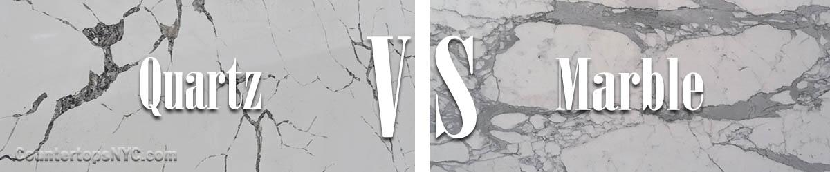 Marble vs. Quartz Countertops