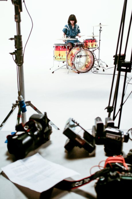 """yuck video shoot for """"holing out"""" at denmark studios, directed by michael reich"""
